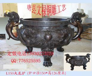 铸铜香炉铜雕塔炉生产厂家图片