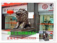 供应铜狮子铸铜故宫狮子铜雕狮子唐县订做纯铜狮子铸造厂家