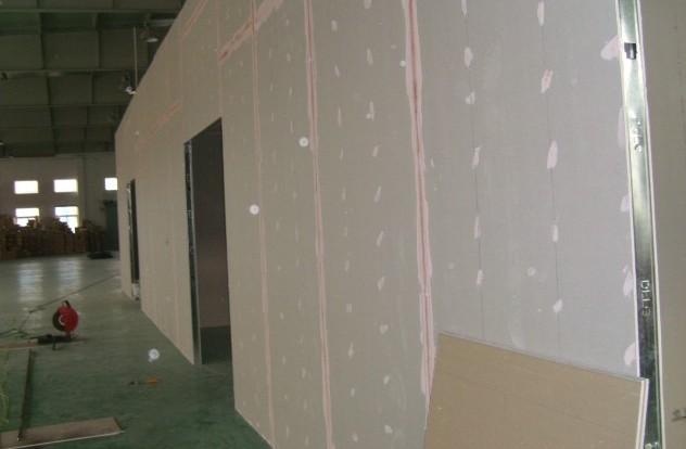 供应常熟轻钢龙骨吊顶隔墙石膏板隔断图片