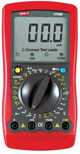 供应优利德数字万用表UT58B 可测电容温度 2年保修 全新正品