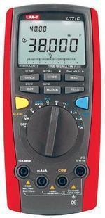 供应优利德UT71C智能数字万用表 带点温探头 最大显示4000