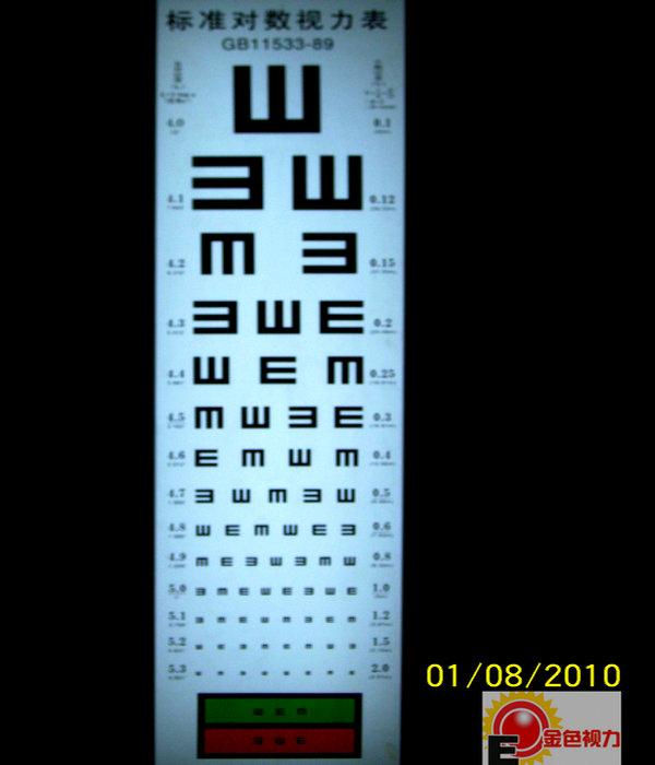 供应视力表灯箱 近视/远视检测标准对数视力表灯箱 弱视近视训练仪