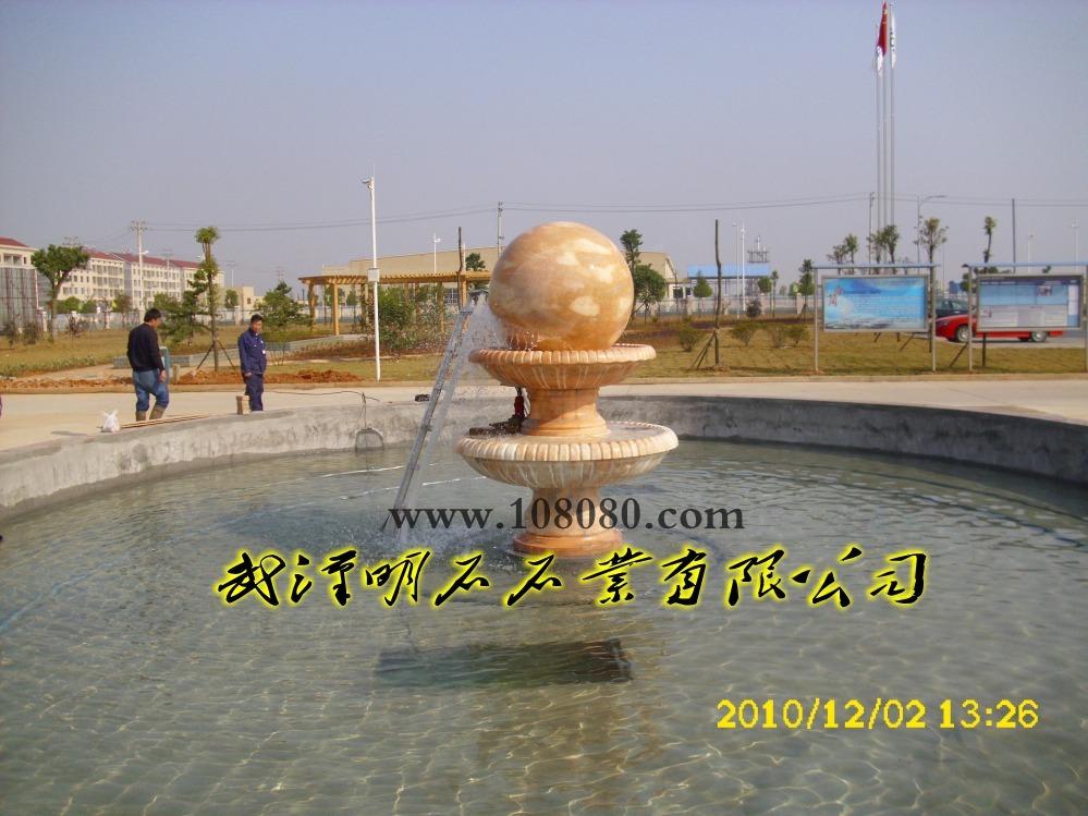 风水球图片 风水球样板图 岳阳风水球安装完工 武汉明石石...