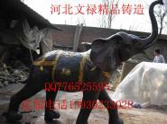 铜雕大象铸铜大象6图片