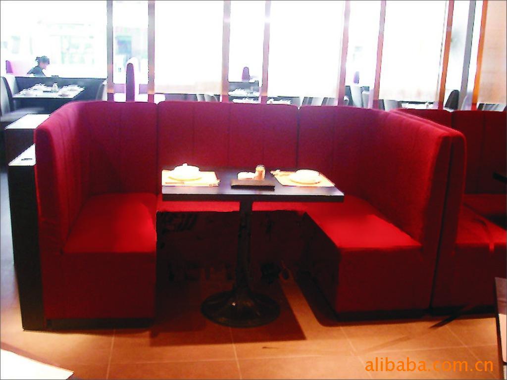 北京卡座沙发定做弧形卡座设计