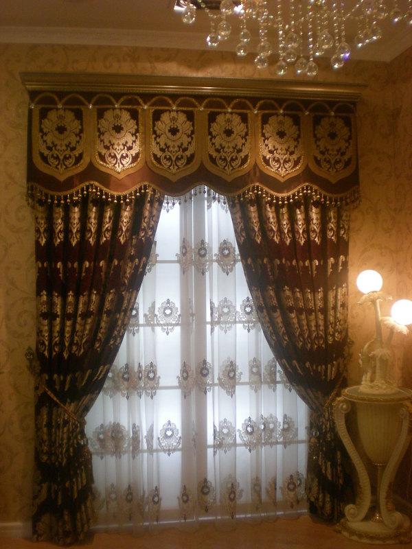 卧室欧式窗帘图片