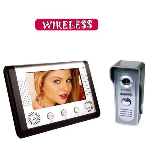供应7寸彩色无线数字可视对讲门铃批发