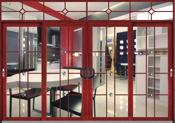 广东铝合金折叠门 佛山铝合金平开门 腾峰铝合金门生产供应商图片