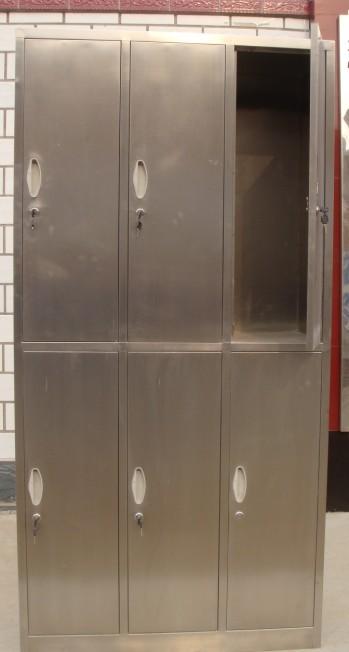 供应不锈钢衣柜 不锈钢更衣柜 不锈钢六门更衣柜 不锈钢鞋柜