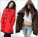 韩版孕妇装秋冬仿貂绒特大加厚棉衣图片