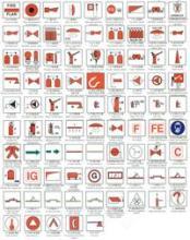 供应消防警示标志船用标贴