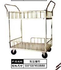 供应不锈钢双面推车不锈钢平板车不锈钢双层推车不锈钢医用推车