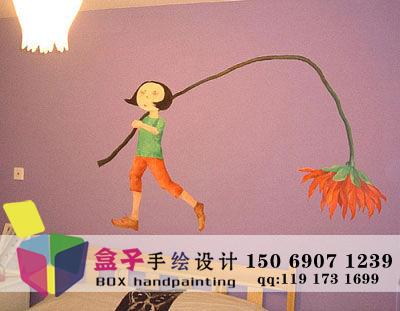 长沙儿童房手绘墙图片