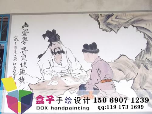 济南手绘墙价格图片