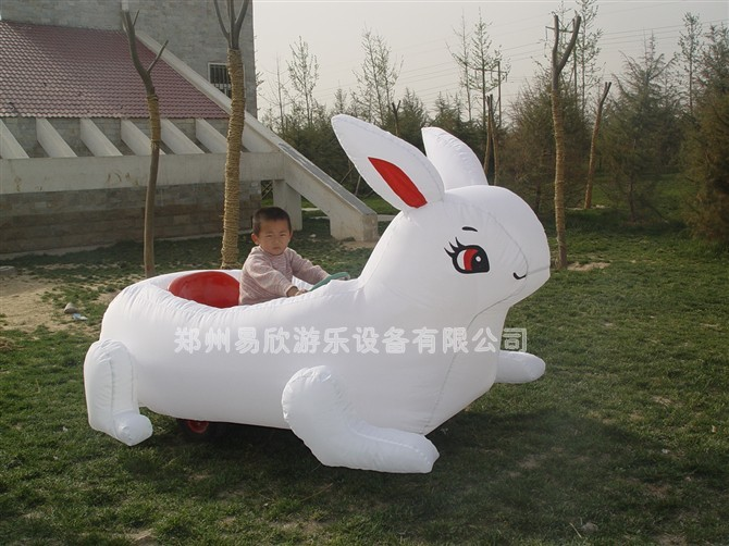 供应大兔子充气电瓶车充气电瓶车厂家质量保证售后无忧图片