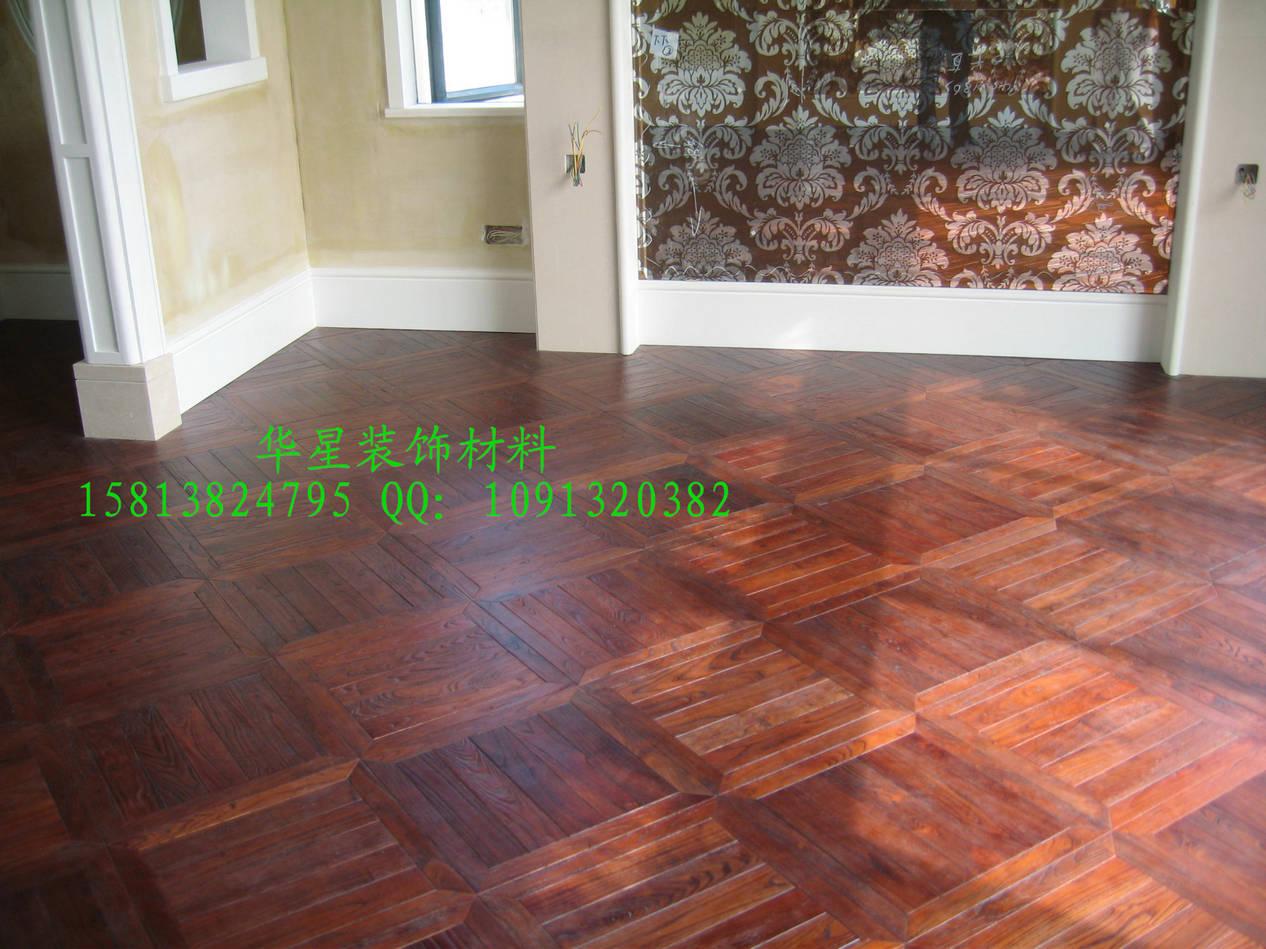 供应观兰湖别墅实木拼花地板效果图图片