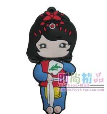 可爱中国娃娃小女孩卡通u盘