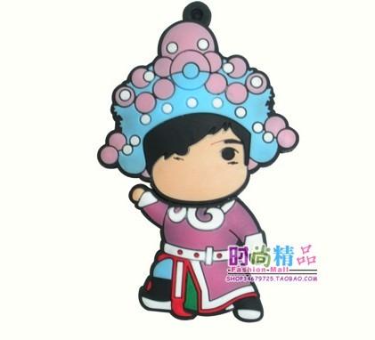 可爱中国娃娃小女孩卡通u盘创意礼品u盘个性u盘优盘