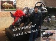 铸铜华尔街牛铸铜牛图片