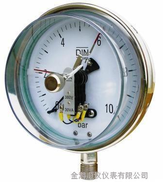 供应磁助电接点压力表应用于石油 温度仪表 压力仪表 安全栅