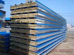 彩钢岩棉复合板供应图片/彩钢岩棉复合板供应样板图
