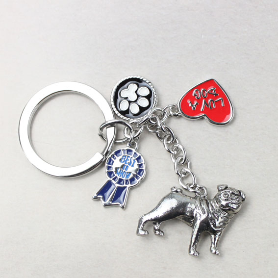 精美合金动物钥匙扣挂饰图片