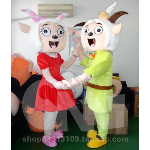 广州嘉年华供应喜羊羊与美羊羊卡通人偶/舞台表演服