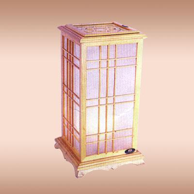 浙江古典木质羊皮台灯