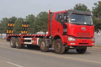 供应大型挖机运输车30吨后八轮平板车