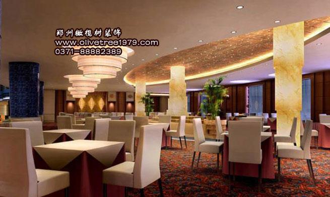 西餐厅的装修风格橄榄树装饰图片