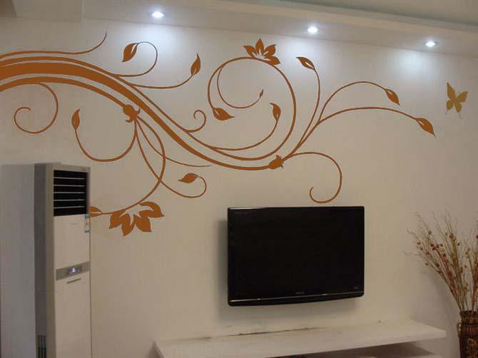 客厅墙画|                                       手绘墙画