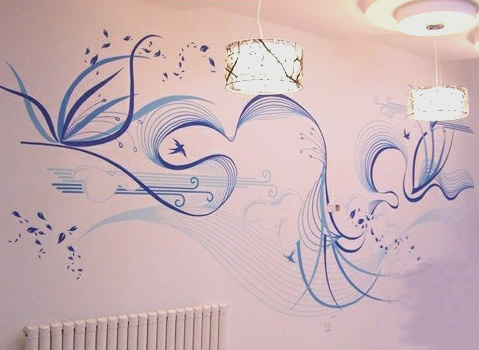 8米墙体彩绘贴小砖的价.