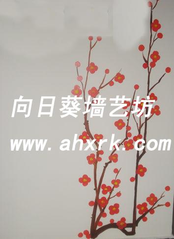 餐厅美食街包厢墙绘合肥向日葵彩绘价格|批发|报价_一