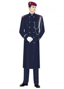 成都门卫保安制服图片