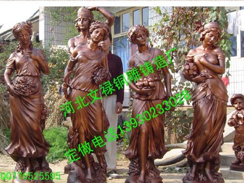 供应唐县文禄铜雕工艺品厂城市雕塑