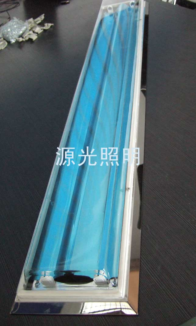 源光照明有限公司生产供应深圳t5双管不锈钢斜边吸顶