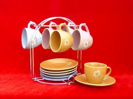 供应咖啡杯碟套陶瓷杯礼品杯广告杯碗盘图片