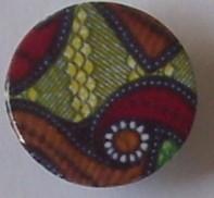 供应金属圆形丝印工字钮扣服装辅料