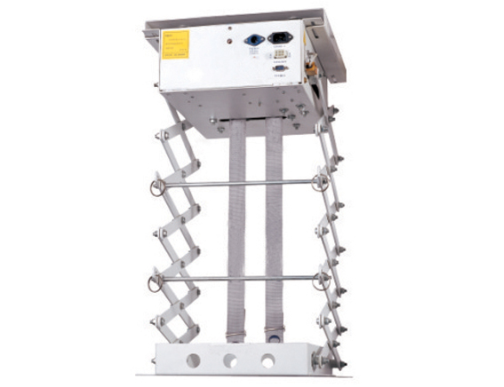 投影机电动吊架,异步减速电磁刹车电机,电子定位双交剪设计,图片