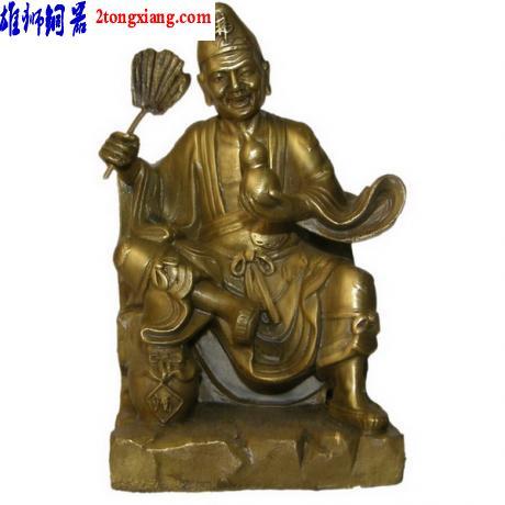 供应铜坐济公-铜济公像-铜像批发图片