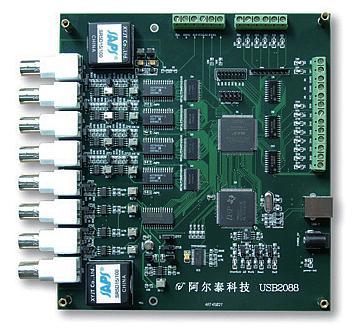 同步数据采集卡USB2088A图片/同步数据采集卡USB2088A样板图