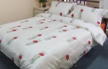 供应床单套件花指玫瑰