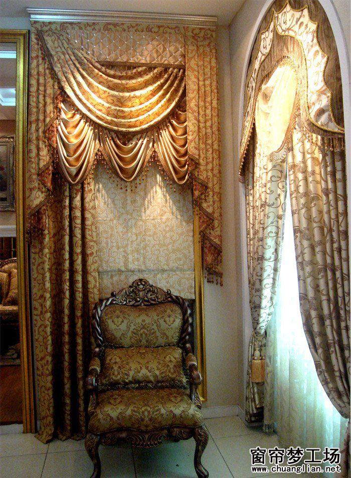 窗帘幔头裁剪_窗帘窗幔图片_窗帘窗幔样板图/效果图_窗帘布艺批发制作设计