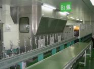锌合金手机外壳UV喷油生产线图片