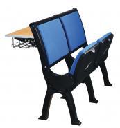 铝合金脚带折叠写字桌排椅图片