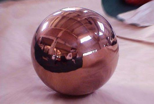 供应不锈钢镀玫瑰金空心圆球