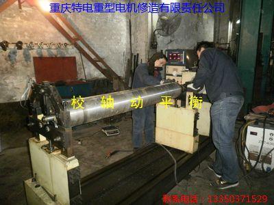 重庆电机厂修理电动机振动大 2极4极电机校动平衡