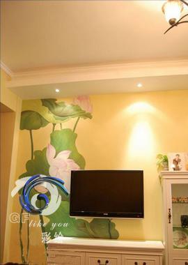 """""""gf创意""""长期从事家庭墙体彩绘设计 西安gf创意手绘工作室"""