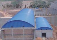 供应彩钢拱形棚,彩钢料顶棚,中铁专用拱形棚,料顶棚,活动房