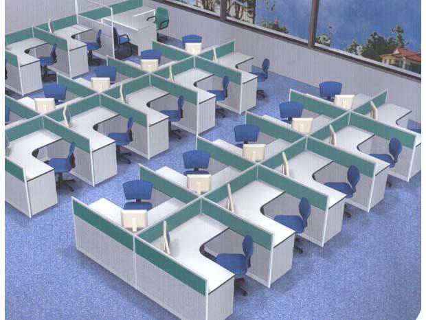现代组合屏风办公桌图片_现代组合屏风办公桌图片大全图片